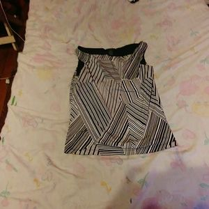 Sleeveless black and white size medium $30